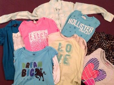 Girls Casual Long Sleeved Shirts Size 8/10/12 Fitch Gap Hollister Limited