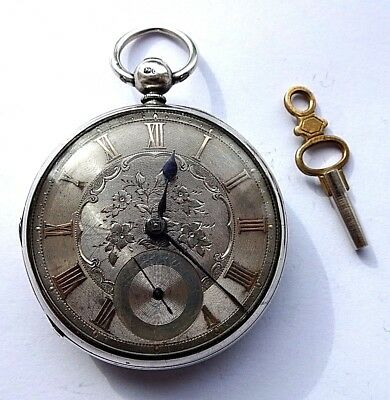 Antique Fully Hallmarked 1859 Silver Open Faced Pocket Watch G W O