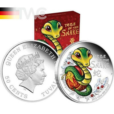 Tuvalu 2013 50 cents Baby Snake 2013 1/2 oz Proof Silver Coin