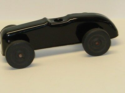 Vintage Indy Style Open Wheel Racer, Black Race car