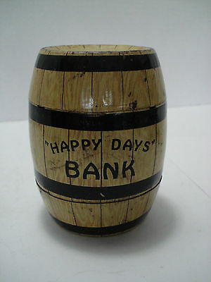 Happy Day's Barrel Bank U.s.a. Tin Toy Vintage