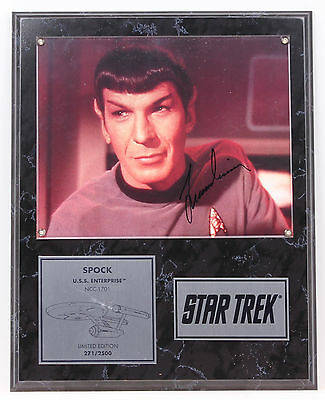 Mr SPOCK Leonard Nimoy Autographed Signed Picture Official Paramount 1993 LE