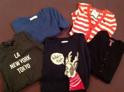 Girls Sweaters Sweatshirts  Blue Gray Black Ambecrombie Forever 21 Sz 8-10-12-14