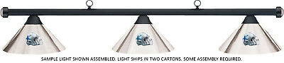 NFL Dallas Cowboys Chrome Metal Shade & Black Bar Billiard Pool Table Light