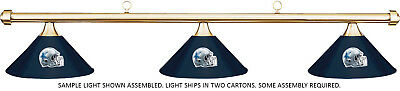 NFL Dallas Cowboys Blue Metal Shade & Brass Bar Billiard Pool Table Light
