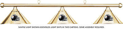 NFL Pittsburgh Steelers Brass Metal Shade & Brass Bar Billiard Pool Table Light