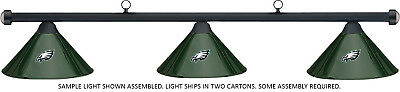 NFL Philadelphia Eagles Green Metal Shade & Black Bar Billiard Pool Table Light