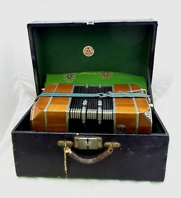 "ALFRED ARNOLD Vintage Bandoneon Bandonion ""AA"" Diatonic Accordion TOP Akkordeon"