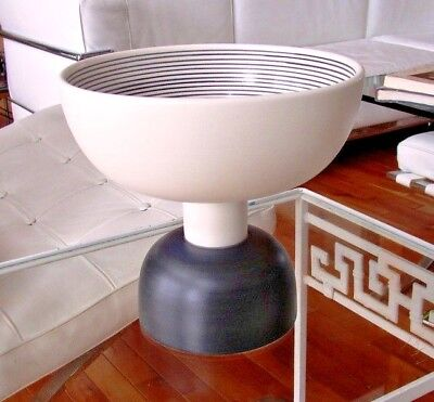 Ettore Sottsass Large Bowl Vase Pottery Bitossi Memphis Made In Italy