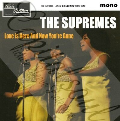 60S Soul Tamla Motown The Supremes Love Is Here And Now Your Gone Picture Sleeve