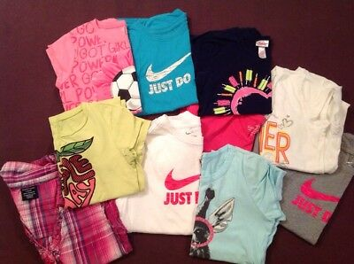 Girls Casual T Shirts Play clothes Size 10/12 Justice Nike Children's Place