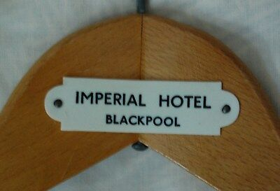 Vintage Wooden Coat Hanger. Imperial Hotel Blackpool. Party conference venue.