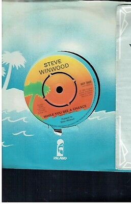 Stevie Winwood While You See A Cance 45 1980