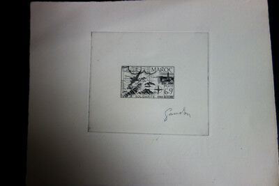 Morocco Stamps Rare Die Proof Signed