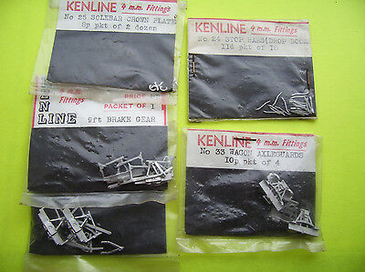FINESCALE 4MM VARIOUS WHITEMETAL WAGON DETAILING PARTS by KENLINE