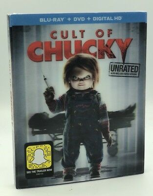 Cult Of Chucky (Blu-ray+DVD+Digital HD, 2016) NEW with Lenticular Slipcover