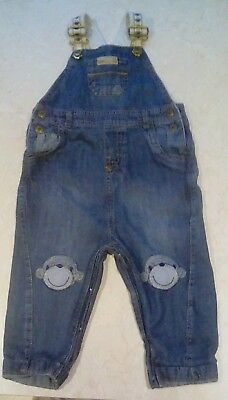 NEXT boys denim dungarees, age 12-18 months, good used condition