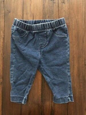 CHEROKEE Baby Girls or Boys Jeggings Leggings Stretch Jeans Pants 3-6 Months