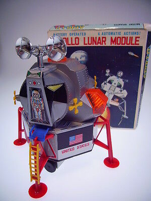 "Gsr Robot ""apollo Lunar Module,dsk, Bo Ok, New/neu/neuf With Upper Part Box !!"
