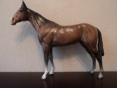 Vintage Beswick Early Bay/brown Race Horse Bois Roussel.