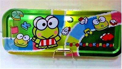 2017 Sanrio Kerokerokeroppi Keroppi Frog Metal Triple Deck Pencil Case Pen Box