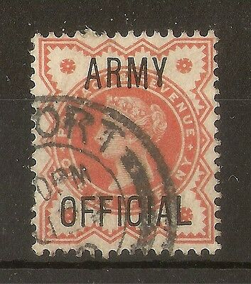 GB 1896 Army Official - Short 'Y' Variety Fine Used