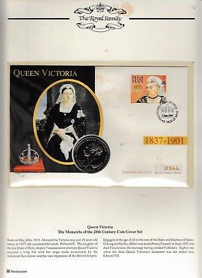 QUEEN VICTORIA, MONARCHS OF THE 20th CENTURY GIBRALTAR CROWN COIN, I O M COVER