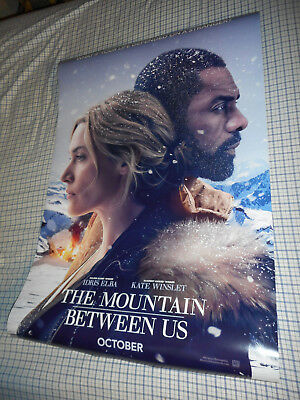 Kate Winslet Idris Elba THE MOUNTAIN BETWEEN US movie poster one sheet DS 27x40