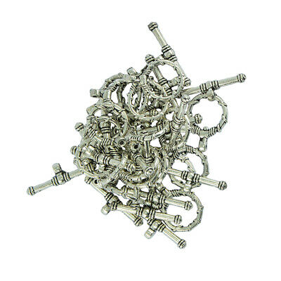 20 Set Wire Wrapped Toggle Clasps Tibetan Silver Jewelry Making Crafts Clasp