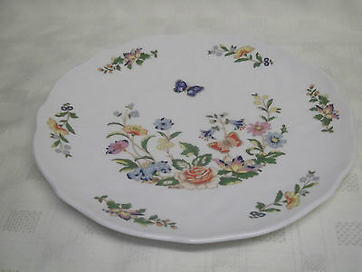 Quality Aynsley Cottage Garden Pattern Large Cake Plate 10""