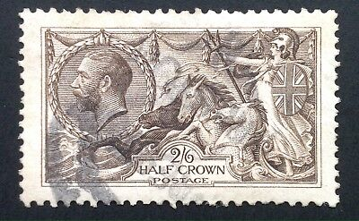 GB George V 1913 Waterlow 2/6 Deep Sepia Brown Seahorse - Used SG 399.