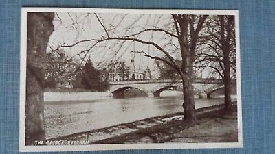 Early postcard, The Bridge, Evesham, Worcestershire. Unused. E J Hampton card.