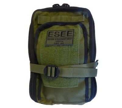 """ESEE SURVIVALBAG Survival Bag Pack Nylon Logo Patch OD Green 8""""x12""""x5"""""""
