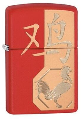 Zippo 29259 Year Of The Rooster Lighter Matte Red With Gift Box