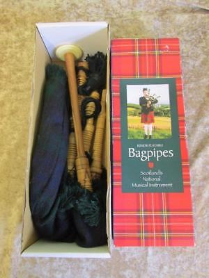 Gold Brothers Kilkady Boxed Junior Playable Bagpipes Tartan/Clan Black Watch