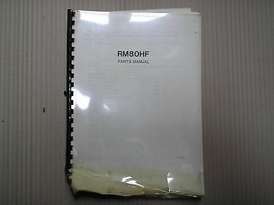 Suzuki RM 80 RM80 RM80H F parts catalogue A4 size USED