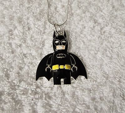 SUPERHERO BATMAN Inspired Large Charm NECKLACE