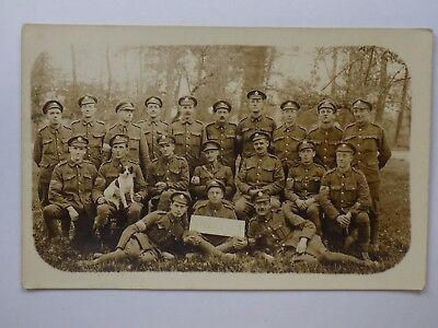 WWI RP Postcard WIRELESS (Signals) Group Photo in France