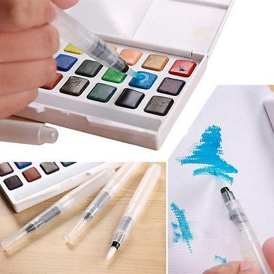 3Size Water Soft Brush Pen Paint For Watercolor Reusable Beginner Calligraphy S4