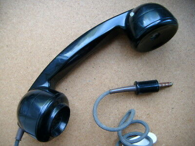 Telephone exchange / linesman plug in handset with thumb switch/receiver switch?