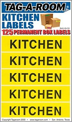 Tag-A-Room Color Coded Home Moving Box Labels Stickers(Kitchen) New