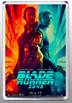 Blade Runner 2049 - Large Fridge Magnet  -  Ford/gosling Classic!