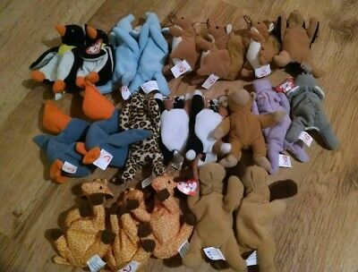 21 job lot TY Beanies animals McDonalds toys