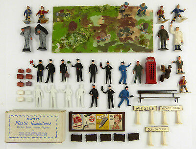 O Gauge Station Staff, Loco Crew & Other Figures & Accessories Inc Boxed Slaters