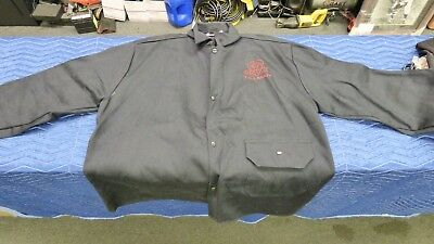 "Tillman Onyx Black 30"" Flame Resistant Cotton Welding Jacket Size 2XL FREE SHIP!"