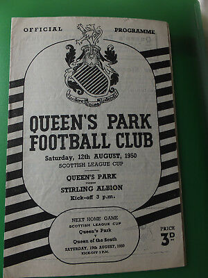 Queen's Park v Stirling Albion 1950-1951 Scottish League Cup