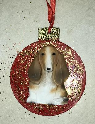 Basset Hound 3D Dog Christmas Ornament Gift Holiday FREE PERSONALIZATION