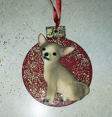 Chihuahua 3D Dog Christmas Ornament Gift Holiday FREE PERSONALIZATION