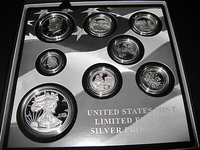 """U.S. Mint Limited Edition 2017 Silver Proof Set w/ Key """"S"""" Mint Eagle - In Hand"""