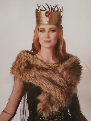 Medieval Faux Fur Stole Halloween Costume Woman's Game of Thrones